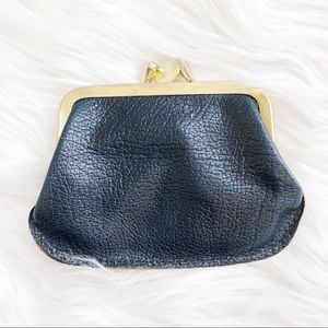Vintage Leather and Gold Coin Purse